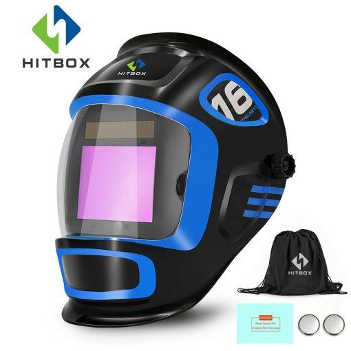Mascara de soldadura HITBOX ajustable de oscurecimiento automático