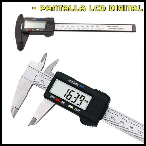 Medidor de Precisión Calibre Digital 0.1 150mm con pantalla LCD