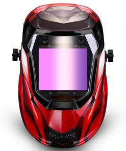 Mascara de soldar oscurecimiento solar automático DEKO modelo Rojo