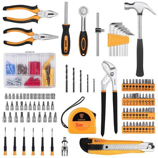 Maletin de herramientas DEKO 196 Uds para reparaciónes