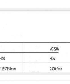 Absorción de humo para soldadura tig 6 pulgadas, 220v