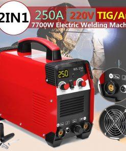 Equipo de soldadura eléctrica TIG/ARC 220V 7700W 2 en 1 inversor MMA IGBT 20-250a