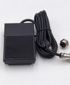 Pedal de metal interruptor 1,8 metros Cable 2 pines conector punto para antorcha soldadura Tig