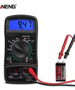 Multímetro Digital XL830L medidor probadores de Transistor eléctrico