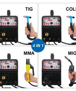 Máquina de soldadura inteligente ANDELI MIG, TIG, MMA soldar en frio