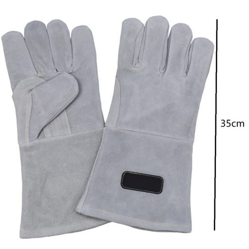 Guantes de soldadura de cuero de 35cm para Soldadores Tig Mig