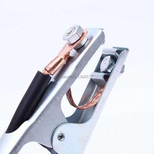 Pinza abrazadera para soldador y porta electrodos de 500A y 2 metros