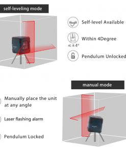 Nivel láser LV1 de línea cruzada con rango de medición de 50 pies