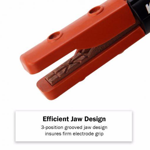 Soporte pinza para electrodos de soldadura diseño americano 300 amperios
