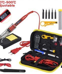 Kit de pistola para soldar de temperatura ajustable, 220V, 80W