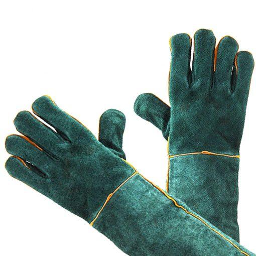 Guantes protección para soldador de piel de vaca con longitud 60 cm