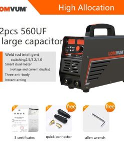 Equipo de soldadura LOMVUM soldador eléctrico de 220V y 250A para trabajo de bricolaje