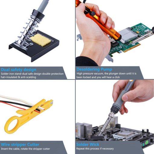 Kit de soldadura eléctrico estación de reparación temperatura ajustable 220V 110V 60W