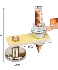 Abrazadera de tierra magnética conductora para soldadura